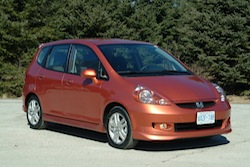 2009 Honda Fit Orange