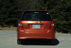 2009 Honda Fit Orange rear