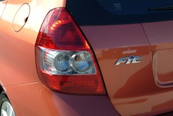 2009 Honda Fit Orange rear taillights