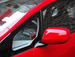 2009 Honda Fit Red side mirror