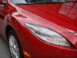2009 Mazda 6 GS Red headlights