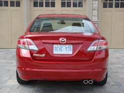 2009 Mazda 6 GS Red rear exhausts