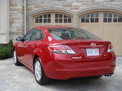 2009 Mazda 6 GS Red rear