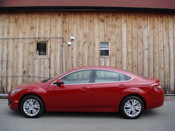 2009 Mazda 6 GS Red side