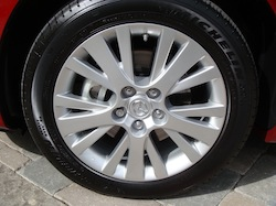 2009 Mazda 6 GS Red wheels rims tires