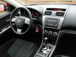 2009 Mazda 6 GS Red interior dashboard