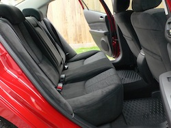 2009 Mazda 6 GS Red rear seats legroom