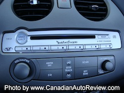 2009 Mitsubishi Eclipse GT Convertible Gray Green buttons