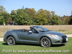 2009 Mitsubishi Eclipse GT Convertible Gray Green top down side