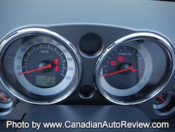 2009 Mitsubishi Eclipse GT Convertible Gray Green gauges