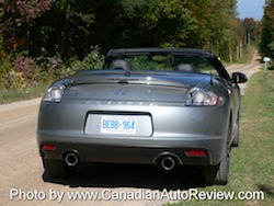 2009 Mitsubishi Eclipse GT Convertible Gray Green rear exhausts