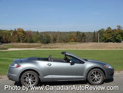 2009 Mitsubishi Eclipse GT Convertible Gray Green side view