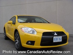2009 Mitsubishi Eclipse GT Coupe Yellow front
