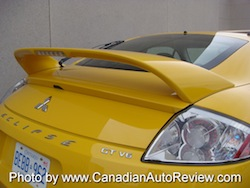 2009 Mitsubishi Eclipse GT Coupe Yellow rear spoiler