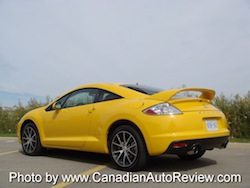 2009 Mitsubishi Eclipse GT Coupe Yellow rear