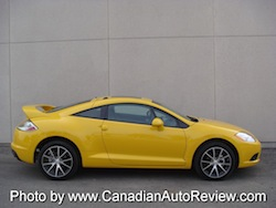 2009 Mitsubishi Eclipse GT Coupe Yellow side