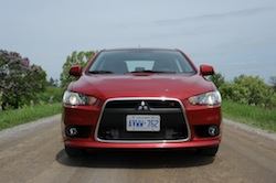 2009 Mitsubishi Lancer Sportback Ralliart Red front grill