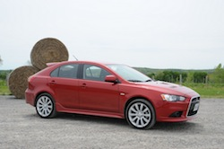 2009 Mitsubishi Lancer Sportback Ralliart Red