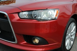 2009 Mitsubishi Lancer Sportback Ralliart Red headlights