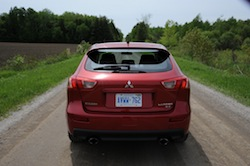 2009 Mitsubishi Lancer Sportback Ralliart Red rear