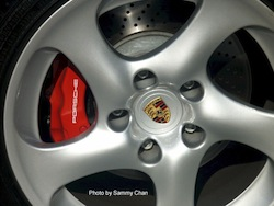 2009 Porsche 911 4S Cabriolet Red wheels tires calipers