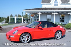 2009 Porsche 911 4S Cabriolet Red top up