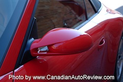 2009 Porsche 911 4S Cabriolet Red side mirrors