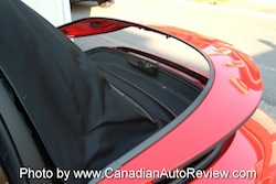 2009 Porsche 911 4S Cabriolet Red roof storage area