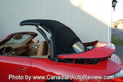 2009 Porsche 911 4S Cabriolet Red rear roof opening