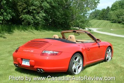 2009 Porsche 911 4S Cabriolet Red rear
