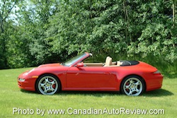 2009 Porsche 911 4S Cabriolet Red side