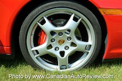 2009 Porsche 911 4S Cabriolet Red wheels rims tires calipers