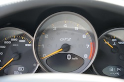 2009 Porsche 911 GT2 Black gauges tachometer