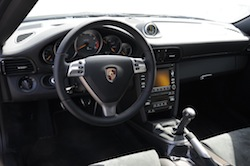2009 Porsche 911 GT2 Black interior dashboard steering wheel