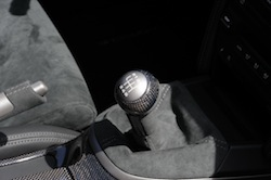 2009 Porsche 911 GT2 Black manual gear shifter