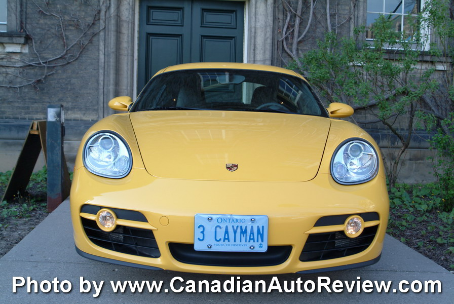 2009 Porsche Cayman Yellow front