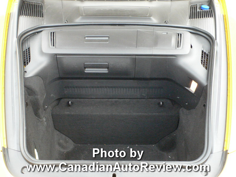 2009 Porsche Cayman Yellow front trunk