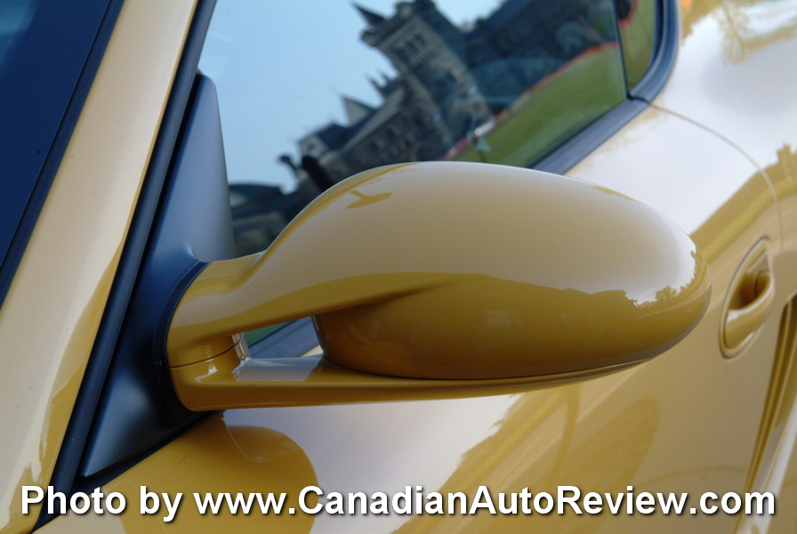 2009 Porsche Cayman Yellow side mirror
