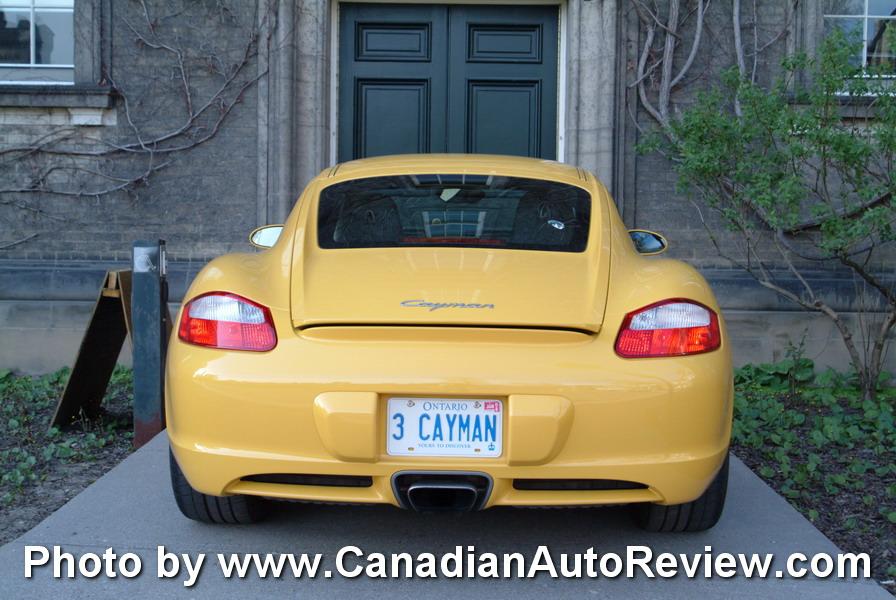 2009 Porsche Cayman Yellow rear