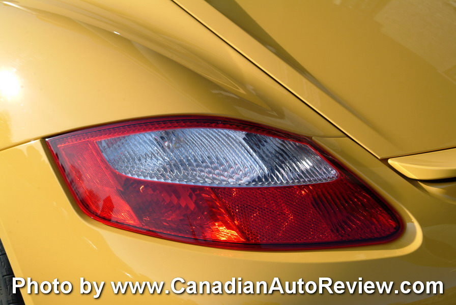 2009 Porsche Cayman Yellow taillights
