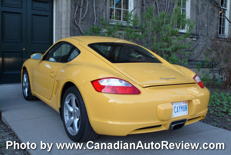 2009 Porsche Cayman Yellow rear taillights
