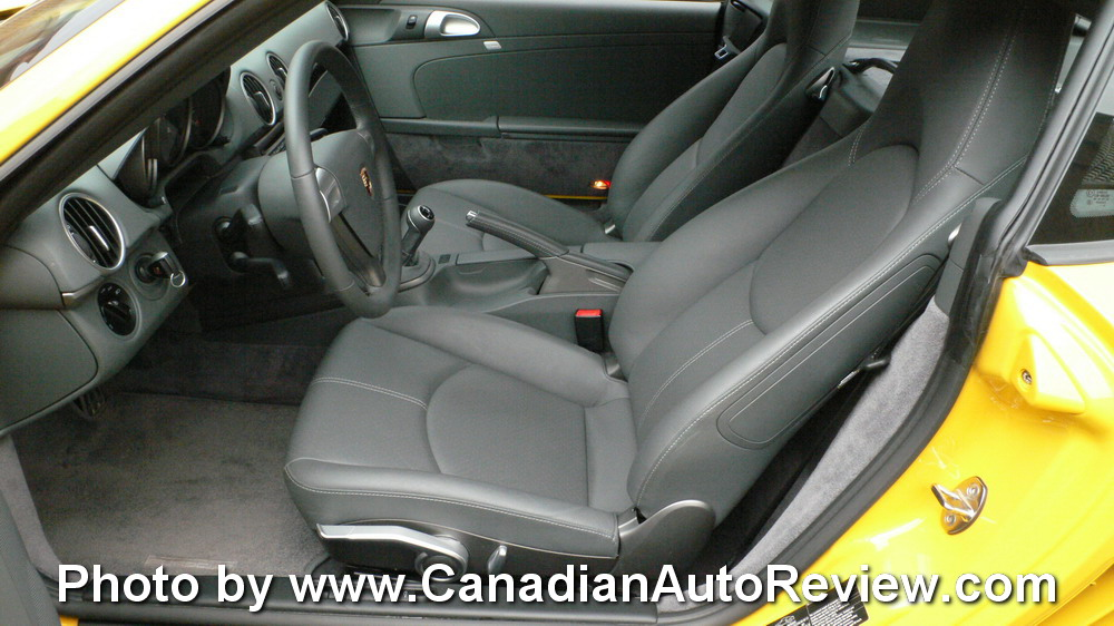 2009 Porsche Cayman Yellow interior seats