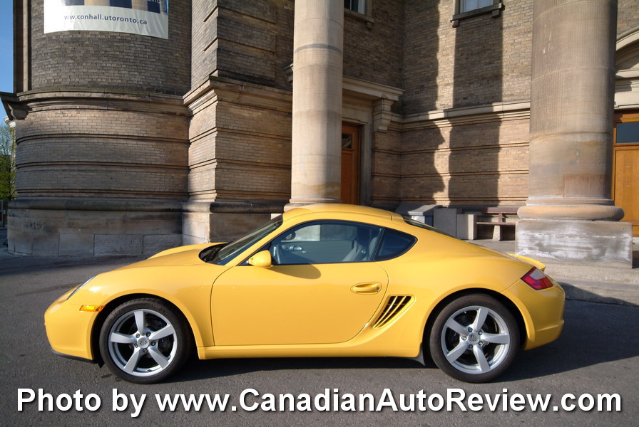 2009 Porsche Cayman Yellow side
