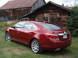 2010 Buick Lacrosse red