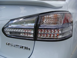 2010 Lexus HS250h White rear taillights