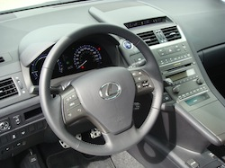 2010 Lexus HS250h White steering wheel interior