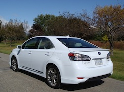 2010 Lexus HS250h White rear