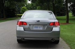 2010 Subaru Legacy 3.6R Gray rear