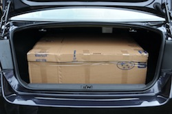 2010 Subaru Legacy 3.6R Black trunk storage space