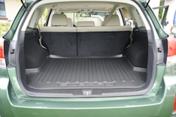 2010 Subaru Outback PZE Green trunk